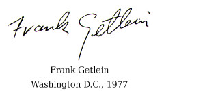 Signature of Frank Getlein